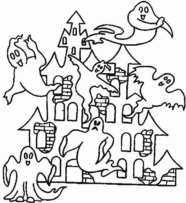 Halloween Coloring Pages Printable Scary Haunted House