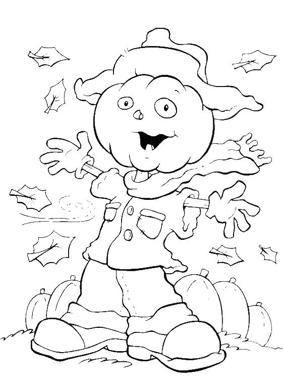 Halloween Coloring Pages Scarecrow