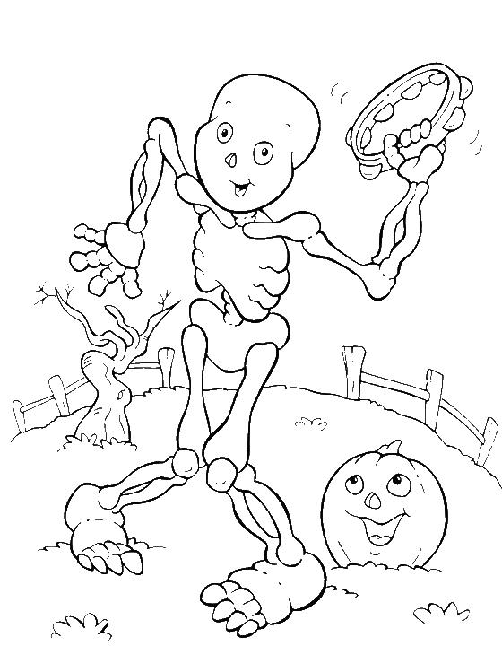 Halloween Coloring Pages Skeleton