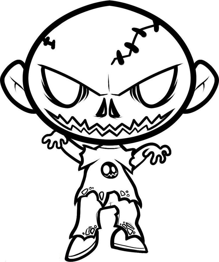 Halloween Coloring Pages Zombie