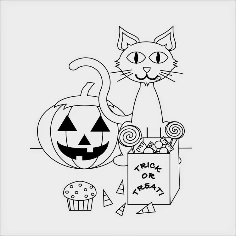 Halloween Costume Cat Coloring Pages