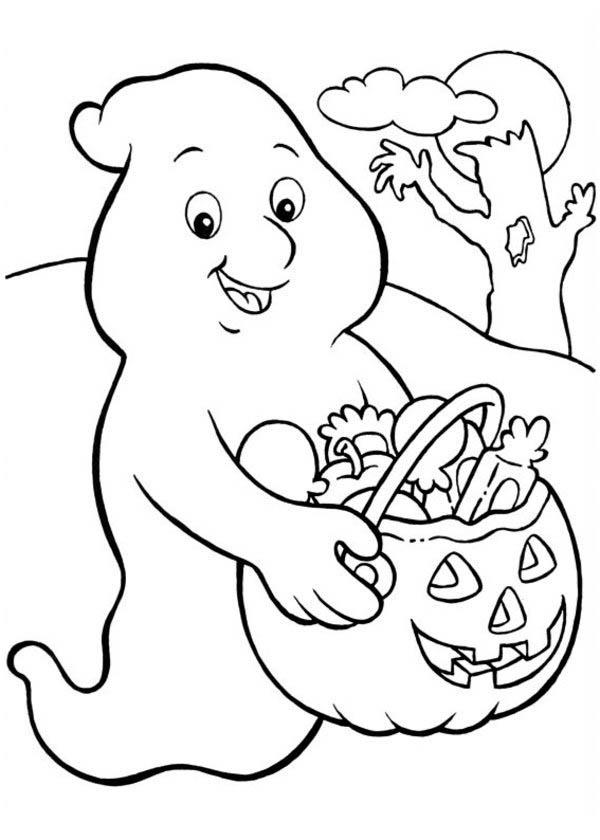 Halloween Ghost Coloring Pages