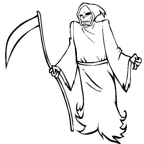 Halloween Grim Reaper Coloring Pages Free