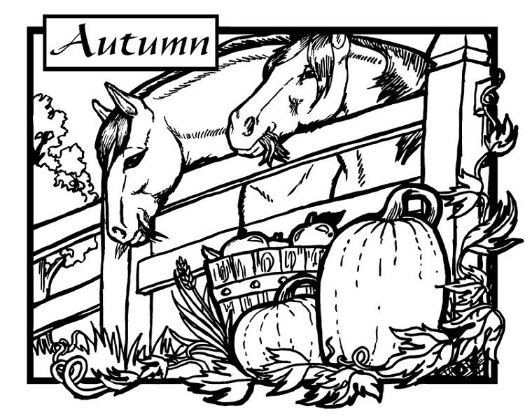 Halloween Horse Coloring Pages