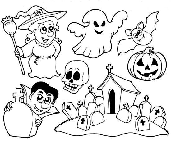 Halloween Preschool Coloring Pages To Print