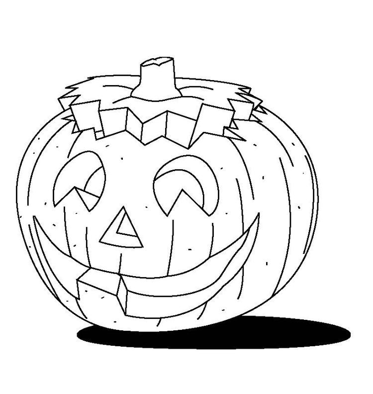 Halloween Pumpkin Colouring Pages For Kids To Print