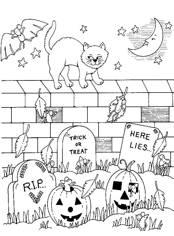 Halloween Rip Coloring Pages