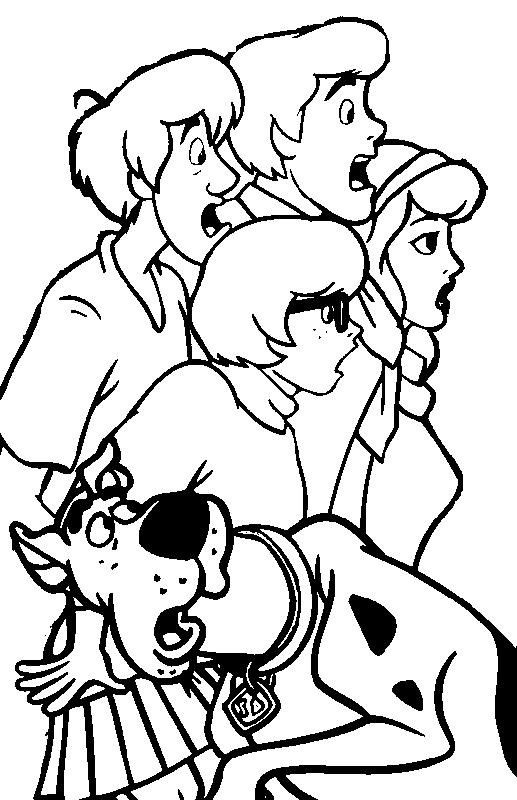 Halloween Scooby Doo Coloring Pages For Free