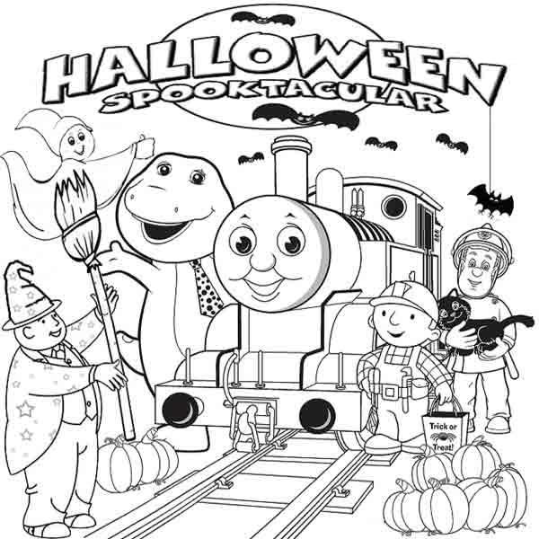 Halloween Thomas The Train Coloring Pages To Print