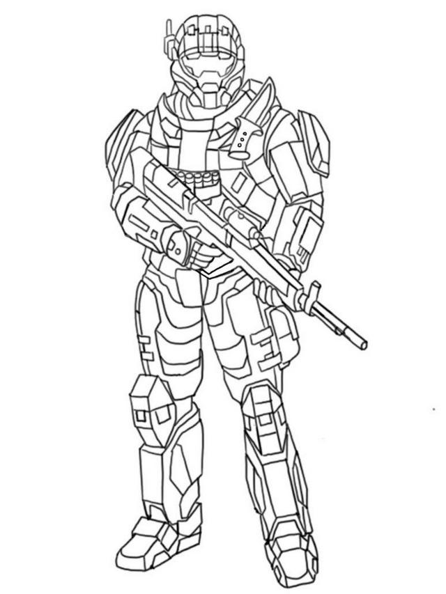 Halo And Call Of Duty Battlefield Coloring And Drawing Page Army Sketching Sheet