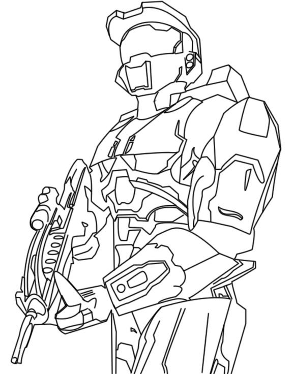 Halo wars coloring and sketch sheet