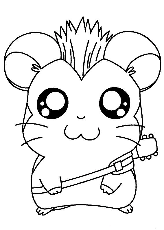 Hamster Coloring Pages Printable