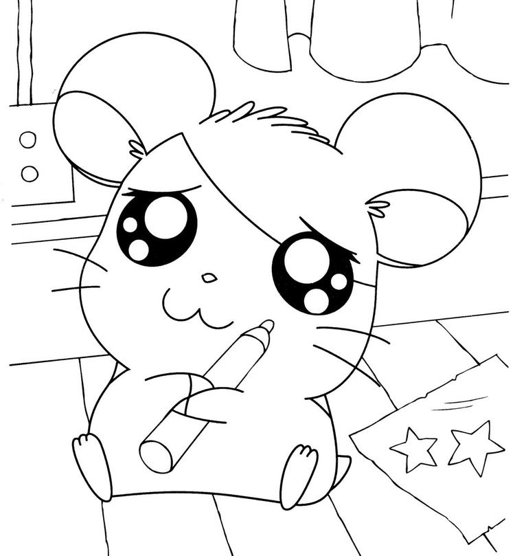 Hamtaro Coloring Pages Free