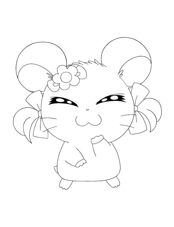 Hamtaro Girlfriend Coloring Pages
