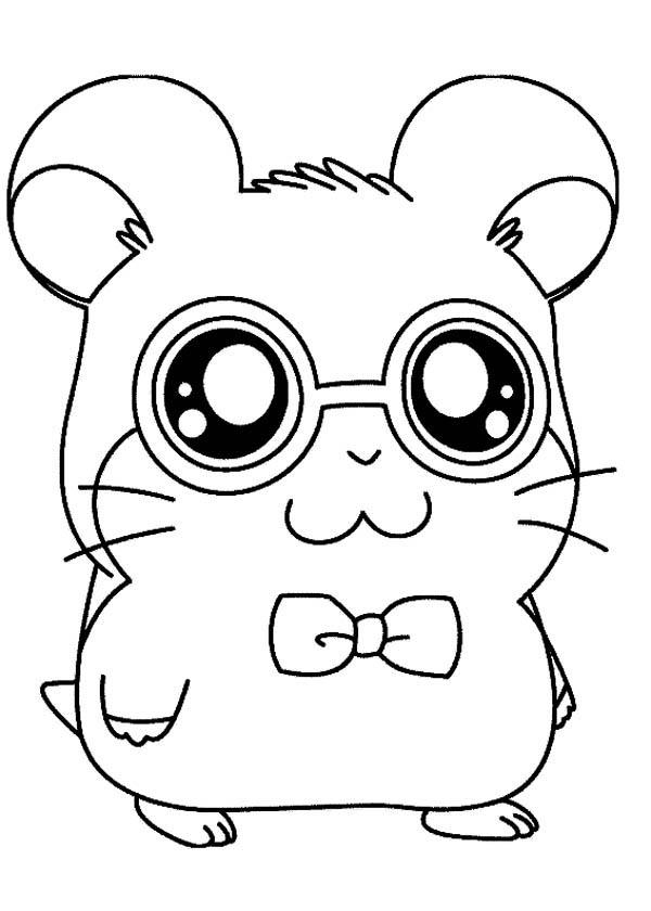 Hamtaro Is Going To Party Coloring Pages