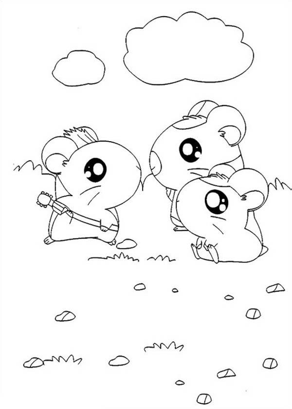 Hamtaro Meet His Friends Coloring Pages