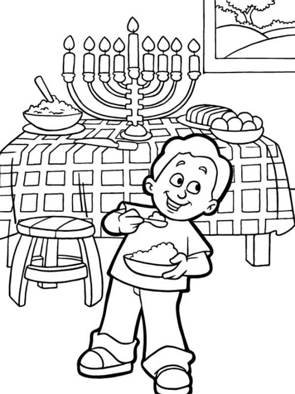 Hanukkah Coloring Pages For Boys
