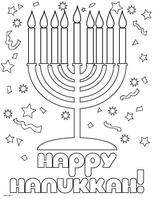 Hanukkah Coloring Pages Printable