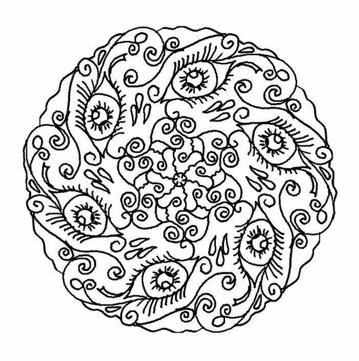 Happy Adult Coloring Pages Mandala Printable