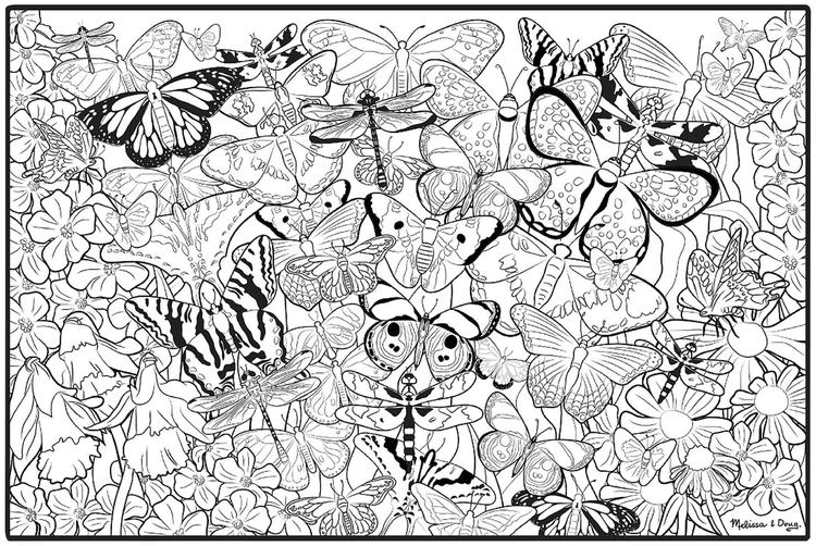 Happy Adult Coloring Pages Printable Butterfly