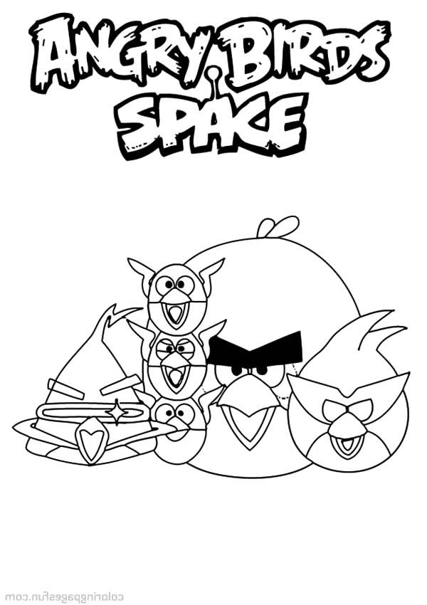 Happy Angry Bird Space Coloring Pages