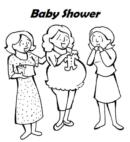 Happy Baby Shower Coloring Sheet