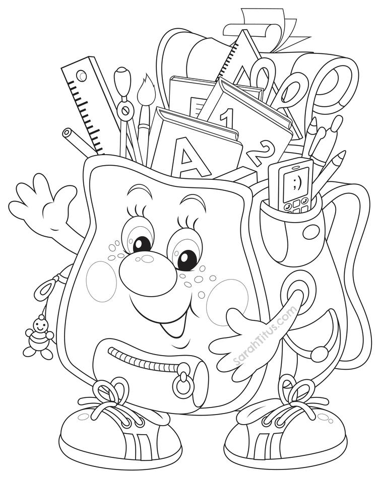 Happy Back To School Coloring Pages 1