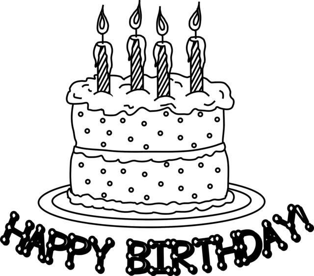 Happy Birthday Cake Coloring Pages 2