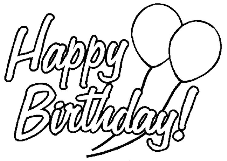 Happy Birthday Coloring Pages Balloon