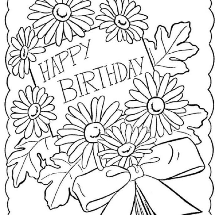 Happy Birthday Coloring Pages For Girl