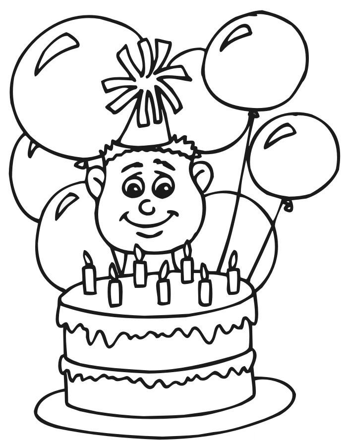 Happy Birthday Coloring Pages Free To Print