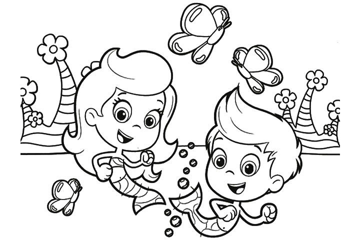 Happy Bubble Guppies Coloring Pages 1