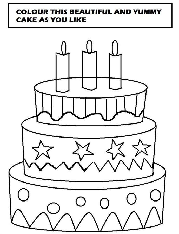 Happy Cake Coloring Pages