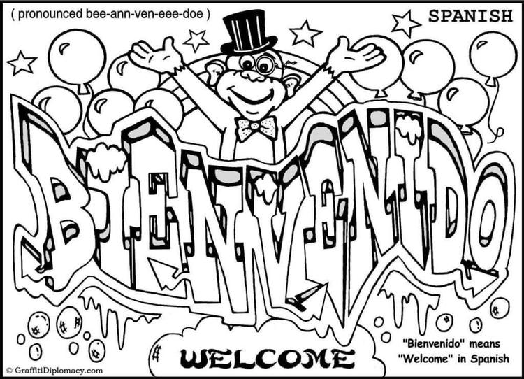 Happy Coloring Pages For Teenagers Graffiti 1