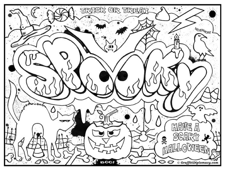 Happy Coloring Pages For Teenagers Graffiti