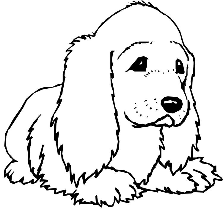 Happy Dog Coloring Pages 1
