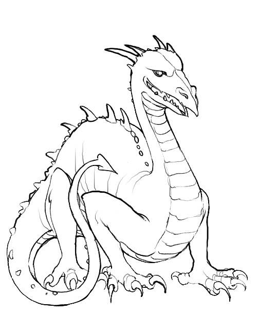 Happy Dragon Coloring Pages