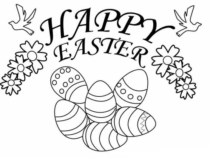 Happy Easter 2013 Coloring Pages For Kids