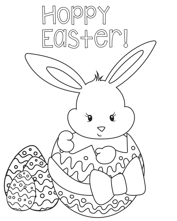 Happy Easter Coloring Pages For Kids