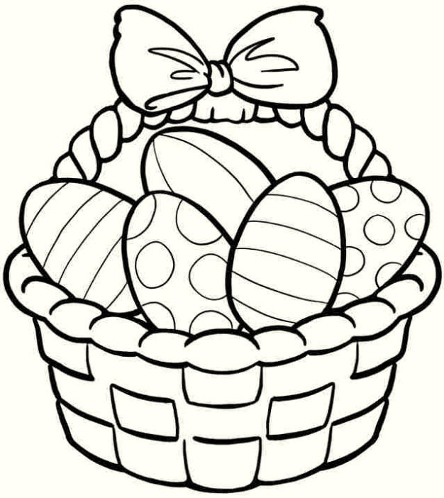 Happy Easter Coloring Pages Picture