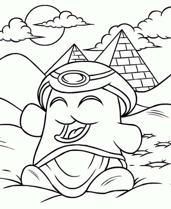 Happy Egyptian Neopets Coloring Pages