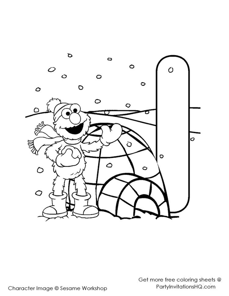 Happy Elmo Abc Coloring Pages