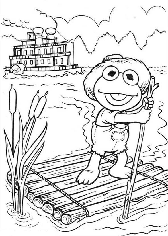 Happy Fisherman Muppet Babies Coloring Pages