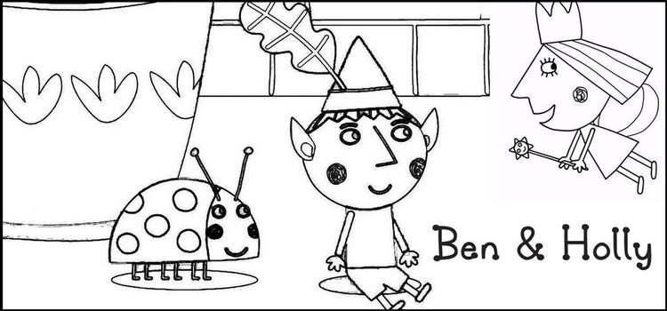Happy Fun To Coloring Ben And Holly Coloring Page