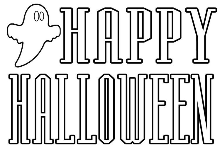 Happy Halloween Coloring Pages For Kids Print