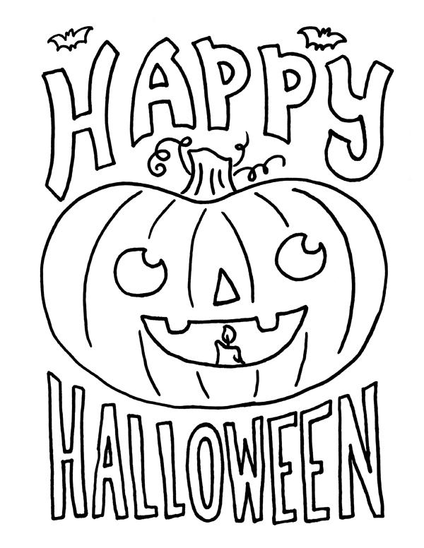 Happy Halloween Coloring Pages Kids Free
