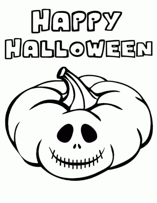 Happy Halloween Coloring Sheets For Kids To Print