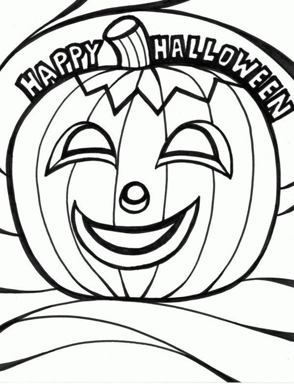 Happy Halloween Pumpkin And Coloring Pages