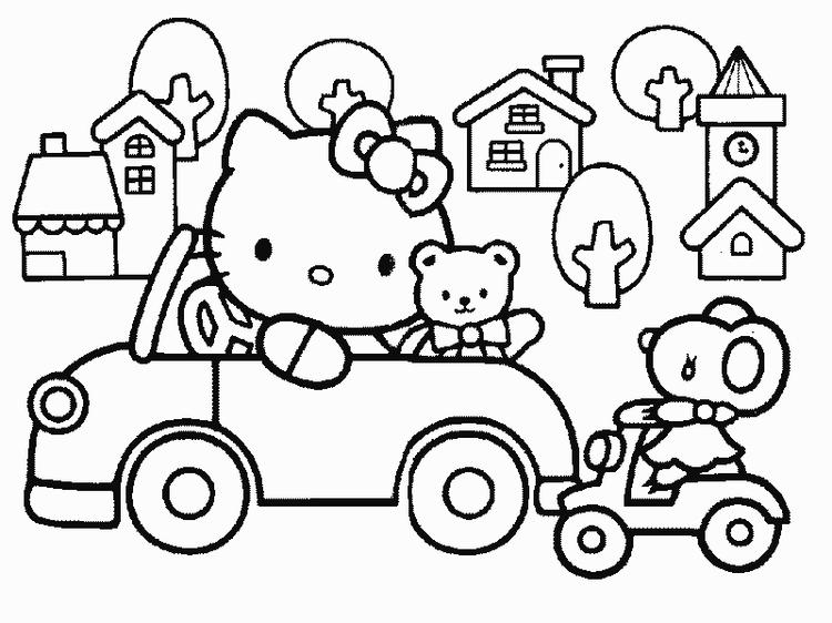 Happy Hello Kitty Back To School Coloring Pages