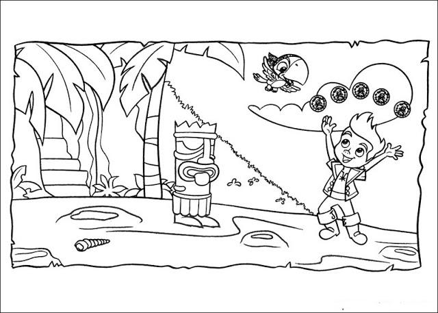 Happy Jake And The Neverland Pirates Coloring Pages 1